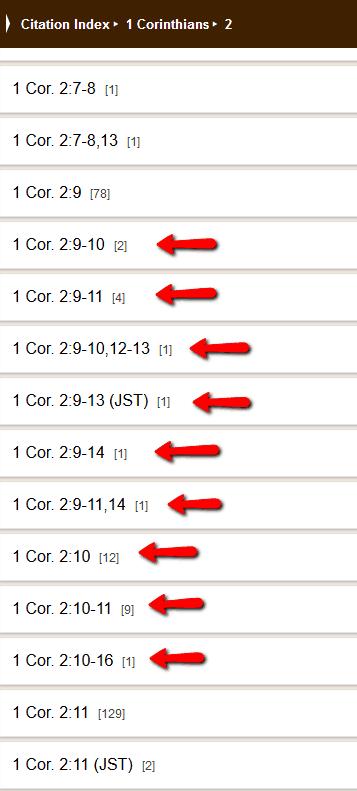 LDS Citation Index Example