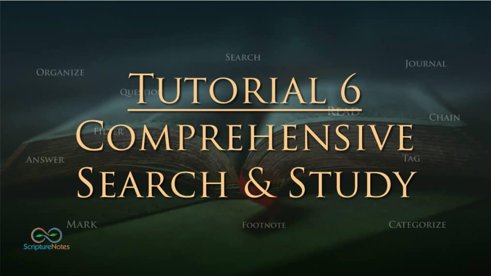 tutorial 6 comprehensive search and study