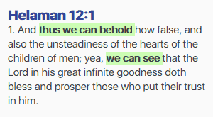 thus we can behold