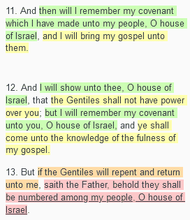 3 Nephi 16 God's words