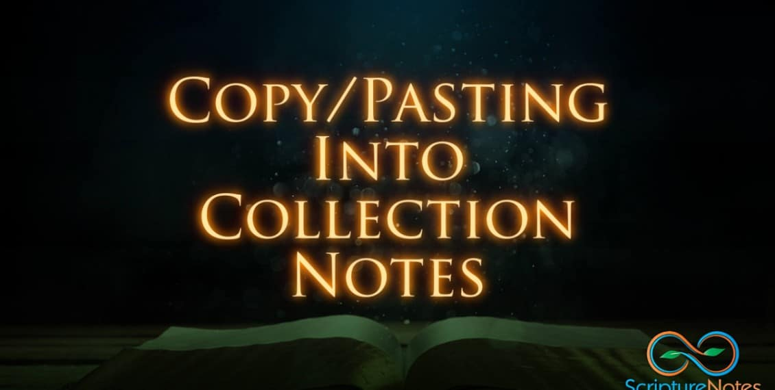 Pasting into a master collection note