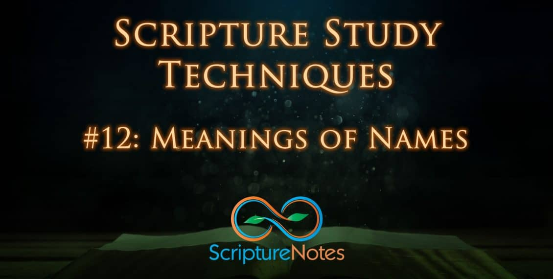 Meaning of names in the scriptures