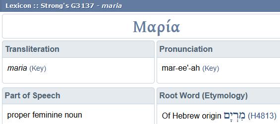 Mary is Maria